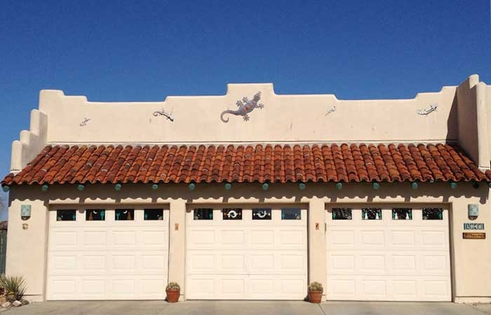 Clay Tile Roof on Garage
